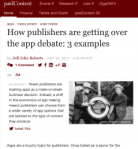 How publishers are getting over the app debate