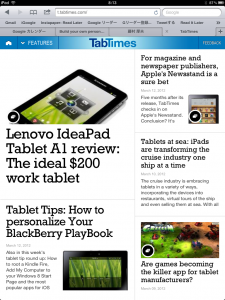 TabTimes HTML5 Web App