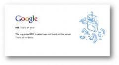 サービス終了後、エラーを伝えるGoogleリーダー