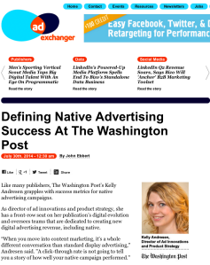 Defining Native Advertising Success At The Washington Post