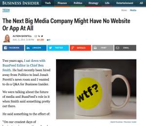 The Next Big Media Company Might Have No Website Or App At All