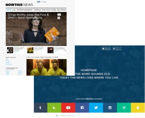 NowThis Newsサイトの過去(左上)と現在