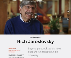 "Rich Jaroslovsky, ""the future OF news"""