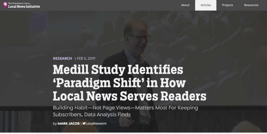 'Paradigm Shift' in How Local News Serves Readers